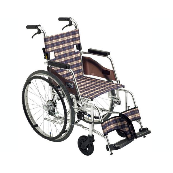 (代引き不可) アルミ自走車いす SKT-3 ミキ (車椅子 コンパクト 軽い) 介護用品