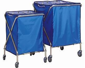(お買い物マラソン限定 ポイント5倍!!)(代引き不可)ダストカーSD 本体・袋セット 大 DS-225-041-3 青 テラモト (介護 施設) 介護用品