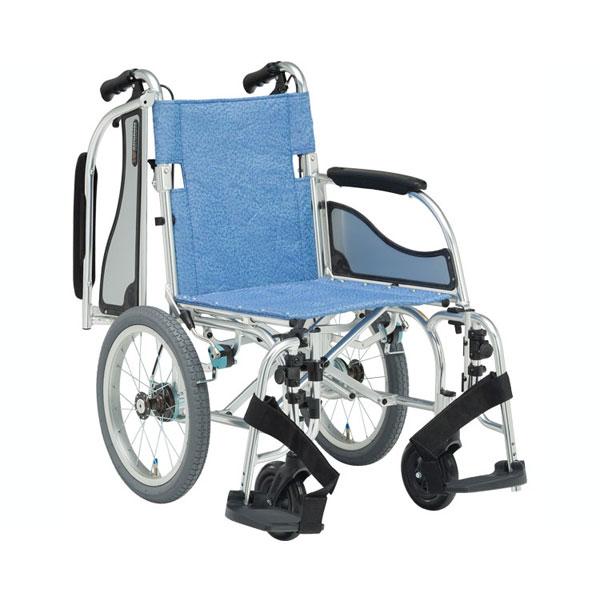 (代引き不可)松永製作所 アルミ介助式車いす エアリアルMW-SL41B ノーパンクタイヤ仕様(軽量車椅子 介助ブレーキ付) 介護用品【532P16Jul16】