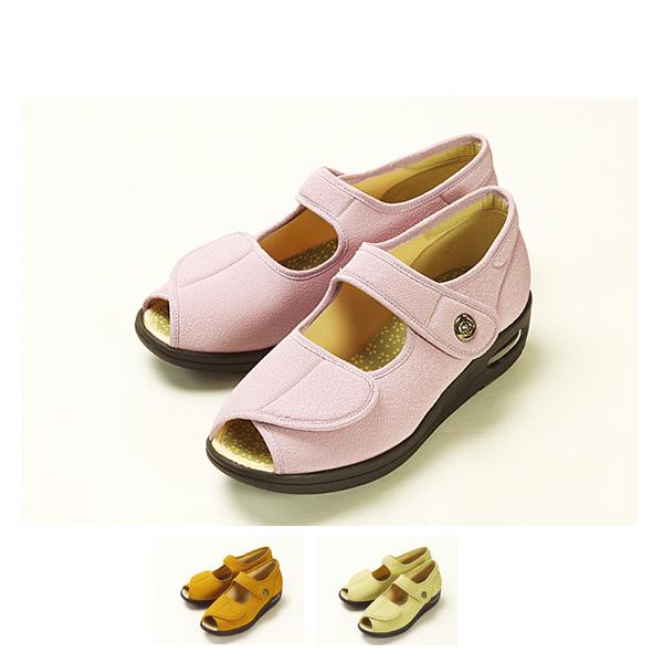 (代引き不可)マリアンヌ製靴 彩彩~ちりめん~ 婦人用 W1103 (介護 シューズ 靴 ケア シューズ) 介護用品