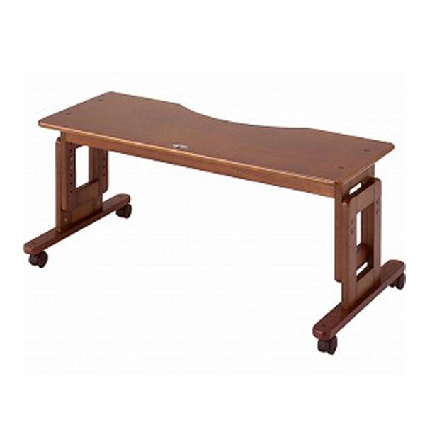 【当店は土日はポイント+5倍!!】(代引き不可) サポートテーブルE 高さ60~45cm (6段階調節) キンタロー (布団 テーブル 木製 キャスター) 介護用品