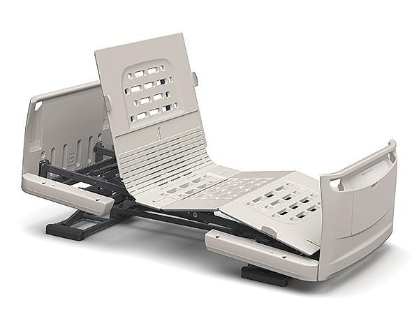 (代引き不可)楽匠Z 2モーション 樹脂ボード スマートハンドル付 / KQ-7220S 91cm幅 ミニ パラマウントベッド 介護用品