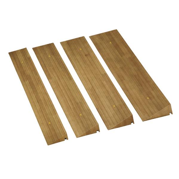 (代引き不可) 屋内用スロープ 段ない・ス ショート 629-035 80×12.8×高さ3.1~3.5cm 木製タイプ シコク(転倒防止 段差スロープ 段差プレート 段差解消スロープ 介護 用 スロープ) 介護用品