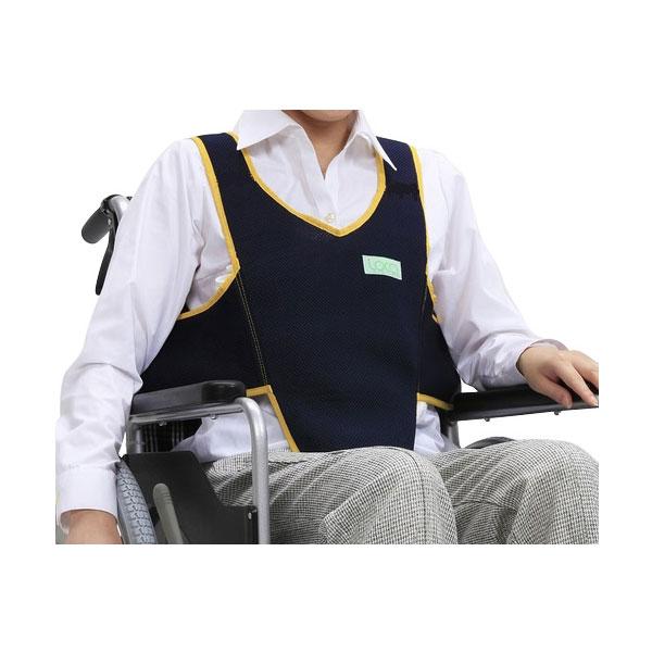 座位姿勢の保持と看護の省力化に 車いす用ワンタッチベルト キーパーエコ メッシュ 403657-19 ネイビー フットマーク 姿勢保持 ベルト 車椅子 最新アイテム 車イス用ベルト 介護用品 大注目