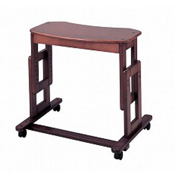 (当店は土日はポイント+5倍!!)(代引き不可) サポートテーブルA 高さ79~64cm(6段階) キンタロー (介護 ベッドサイドテーブル サイドテーブル キャスター テーブル 木製 車椅子) 介護用品