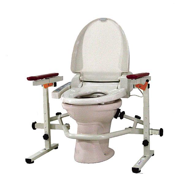 洋式トイレ手すり といれって 肘掛跳ね上げ式 TH-W ウェルファン (介護 トイレ 手すり 立ち上がり 補助) 介護用品