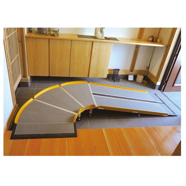 (代引き不可) LスロープFK1000 微笑の杜若 643-220 長さ200cm シコク (車椅子 スロープ 段差解消スロープ 段差スロープ 介護) 介護用品