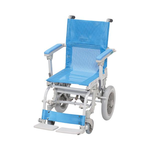 (代引き不可) シャワースカールD メッシュシート SW6300 ウチヱ (お風呂 椅子 浴用 シャワーキャリー 折りたたみ) 介護用品