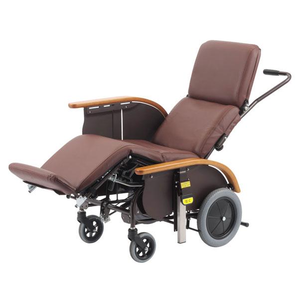 (代引き不可) フルリクライニングキャリー FC-120 レザーシート仕様 サイドスカート付 ピジョンタヒラ (車いす ティルト リクライニング 折りたたみ) 介護用品