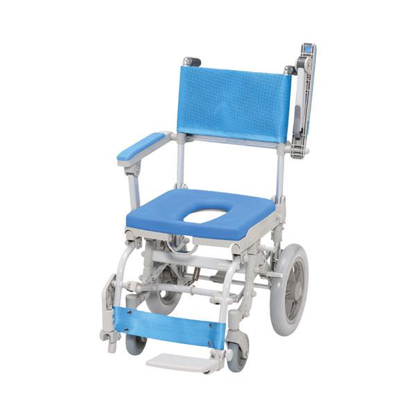 (代引き不可) シャワースカールD O型シート SW6301 ウチヱ (お風呂 椅子 浴用 シャワーキャリー 折りたたみ) 介護用品
