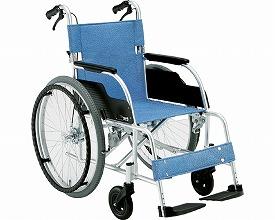 (代引不可)松永製作所 アルミ製自走式車いすECO-201Bノーパンクタイヤ仕様(308908) 介護用品