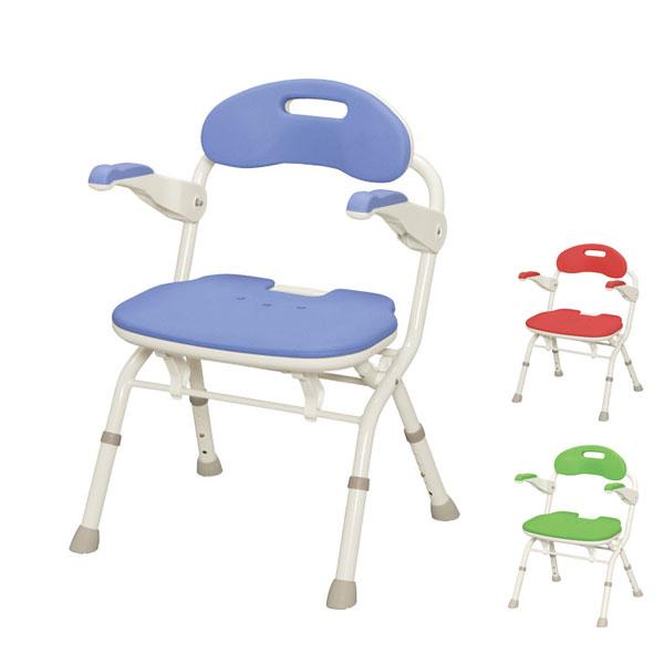 アロン化成 安寿 折りたたみシャワーベンチFS 536-050 536-051 536-052 (介護用 風呂椅子 介護 浴室 椅子 チェア 折りたたみ 肘掛け椅子) 介護用品