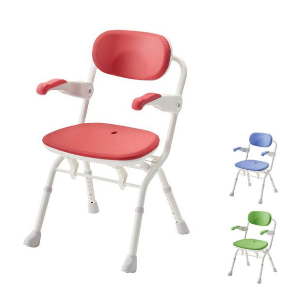 アロン化成 安寿 楽らく開閉シャワーベンチ Sフィット 536-090 536-091 536-092 (介護用 風呂椅子 介護 浴室 椅子 チェア 折りたたみ 肘掛け椅子) 介護用品