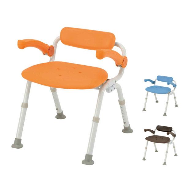 パナソニック シャワーチェア [ユクリア] ミドルSP腰当付おりたたみN PN-L42021 (介護用 風呂椅子 お 風呂 椅子 カビ にくい チェア 折りたたみ 浴室 椅子 肘掛け椅子 椅子 腰) 介護用品
