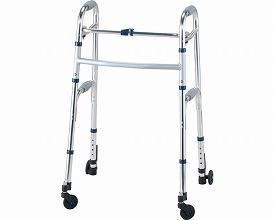 (1/1から1/5までポイント2倍!!)イーストアイ セーフティーアームウォーカー Mタイプ スイングキャスタータイプ ハイタイプ SAWMHR (介護 歩行器 歩行補助器 折たたみ) 介護用品