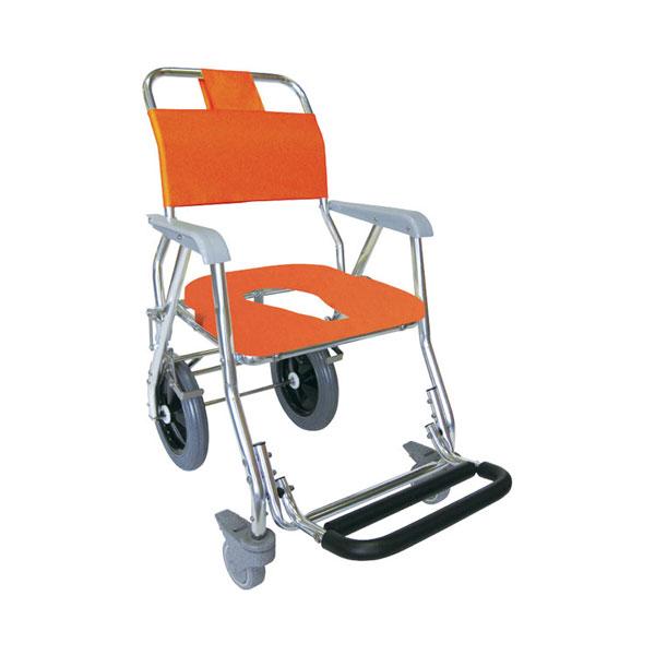 (代引き不可)睦三 シャワーキャリー LX-L No.5003 後輪大型キャスタータイプ (お風呂 椅子 浴用椅子 シャワーキャリー 背付き 介護) 介護用品