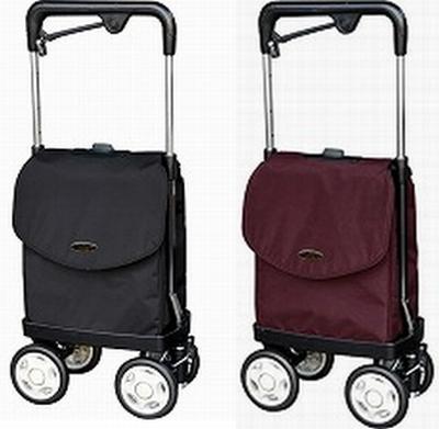 (代引き不可)ウォーキングキャリーiカート2(アイカート)ショッピングカート横押しタイプ(シルバーカー お買い物カート 歩行補助) 介護用品