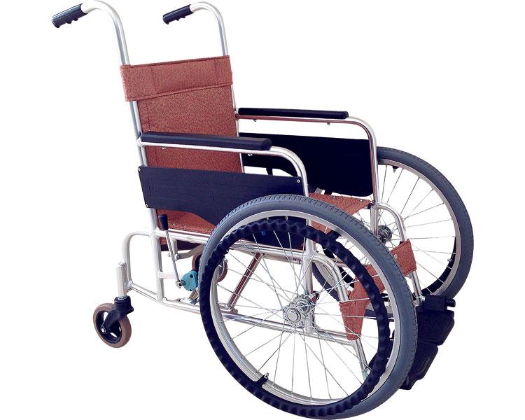 (代引き不可)アルミ前方大車輪式車いす / FW-20L エリーブラウン あかね福祉介護用品