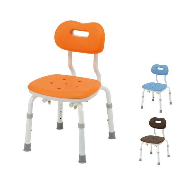 パナソニック シャワーチェア [ユクリア] コンパクトスツール背付N PN-L41121 (介護用 風呂椅子 お 風呂 椅子 カビ にくい 浴室 椅子 コンパクト 椅子) 介護用品