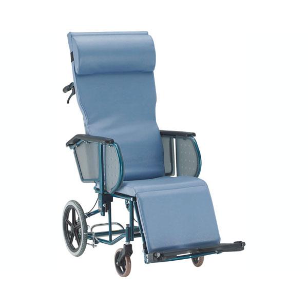 (代引き不可)松永製作所 フルリクライニング車椅子 エスコート FR-11R(リクライニング車いす ノーパンクタイヤ)介護用品