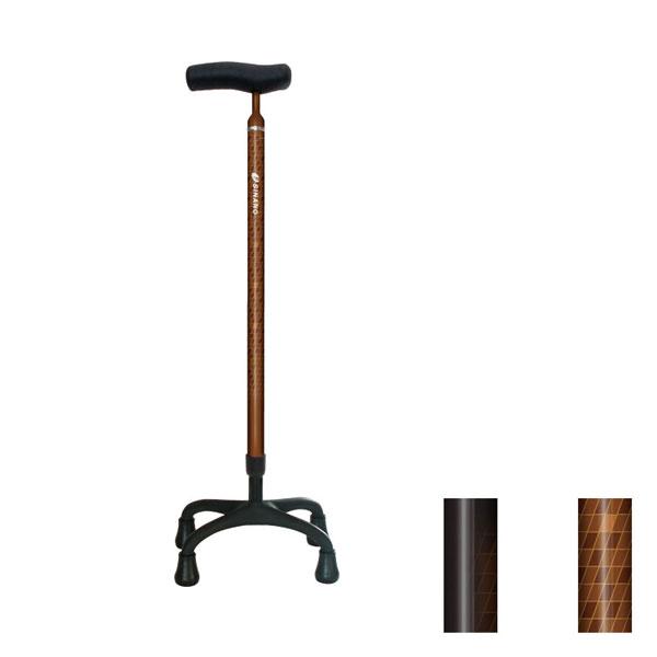 ソフトグリップカーボン4点杖+ シナノ (介護 杖 つえ ステッキ 多点) 介護用品