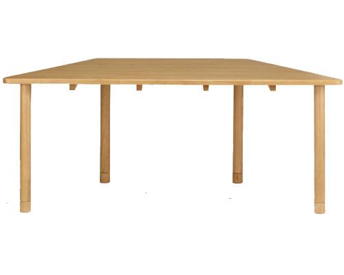 【受注生産品】(代引き不可)介護施設向けテーブル 台形 TS2-K18082 貞苅椅子製作所 介護用品