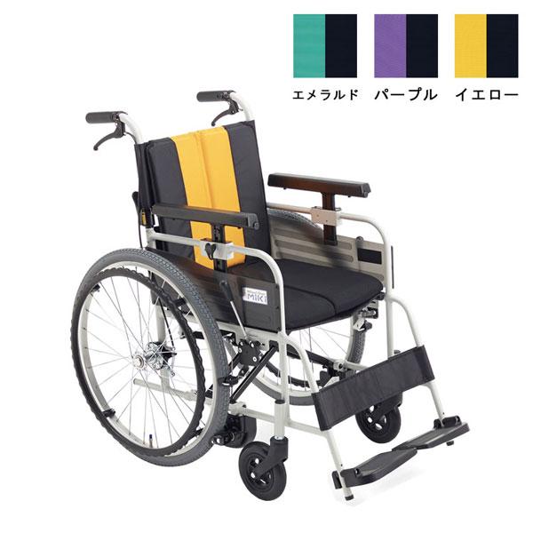 (4/1日限定 当店全品ポイント5倍!!)(代引き不可) アルミ自走車いす MBY-47B 座幅40cm ミキ (ノンバックブレーキ) 介護用品