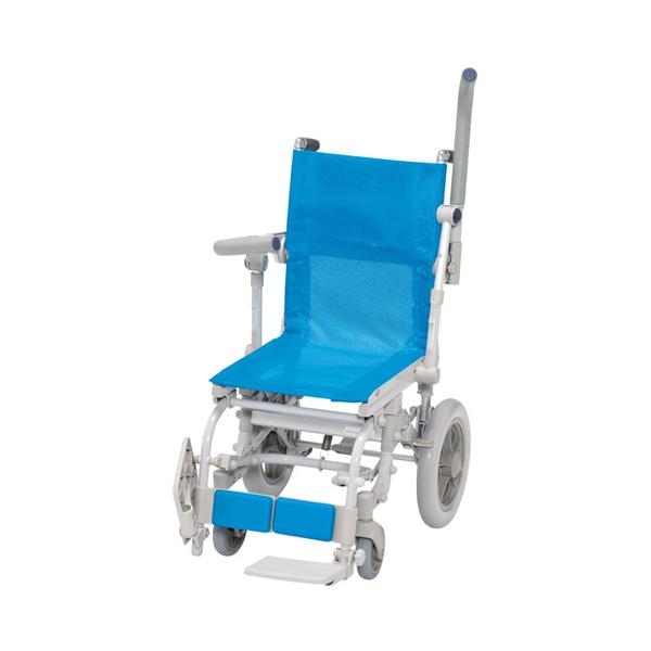 (代引き不可) シャワースカールDセーフティロック メッシュシート SW6300SAL ウチヱ (お風呂 椅子 浴用 シャワーキャリー 折りたたみ) 介護用品
