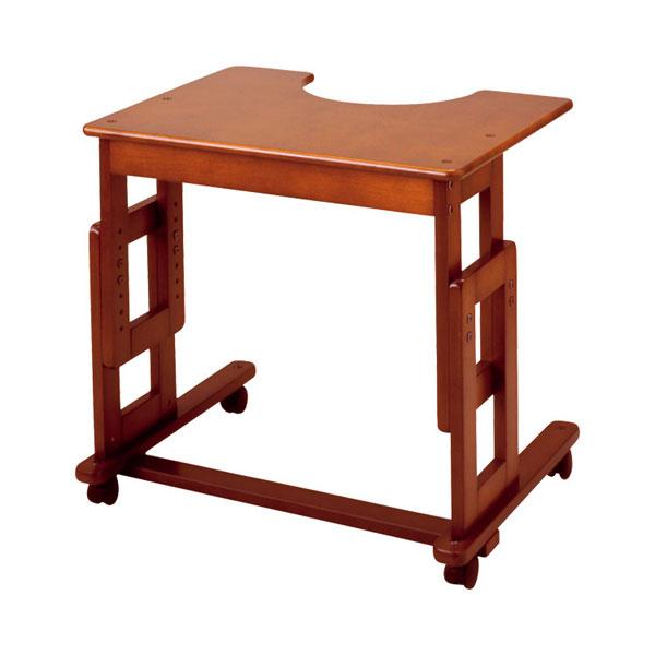 (1/1から1/5までポイント2倍!!)(代引き不可) サポートテーブルB 高さ64~79cm(6段階) キンタロー (介護 ベッドサイドテーブル サイドテーブル キャスター テーブル 木製 車椅子) 介護用品