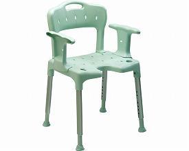 """(代引き不可) 相模ゴム工業 シャワーチェア """"スイフト"""" アームレスト+バックレスト付 RB1103 (介護用 風呂椅子 浴室 椅子 チェア 肘掛け椅子)介護用品"""