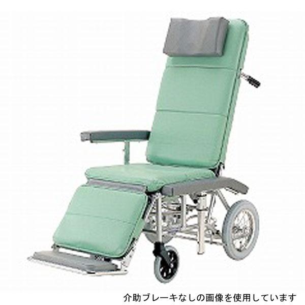 (代引き不可) カワムラサイクル フルリクライニング車いす RR70NB 介助式 介助ブレーキ付 (RRシリーズ 簡易ストレッチャー 大型枕) 介護用品