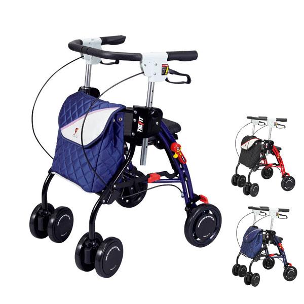 シルバーカー ザフィット TF-0438 ユーバ産業 (歩行車 座面 軽量 アルミフレーム) 介護用品