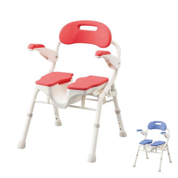 アロン化成 安寿 折りたたみシャワーベンチHPフィット 536-070 536-071 (介護用 風呂椅子 介護 浴室 椅子 チェア 折りたたみ 肘掛け椅子) 介護用品