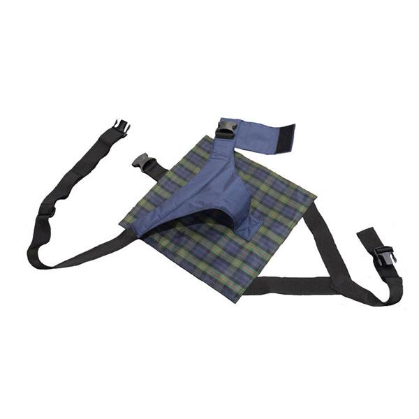 (キャッシュレス還元 5%対象)座面付キーパー セルフ脱着タイプ 4011 ネイビーチェック 特殊衣料 介護用品