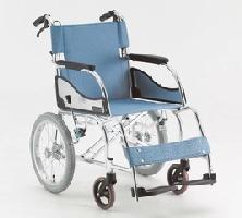 (代引き不可) 松永製作所 アルミ介助式車いす エアリアルMW-SL21B ノーパンクタイヤ仕様(軽量車椅子 介助ブレーキ付)介護用品