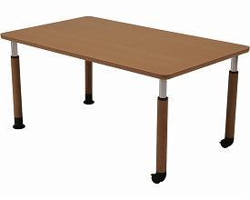 (代引き不可)コイズミファニテック ダイニングテーブルGS-HT No.90 天板90×90cm 継脚セット(303342)介護用品