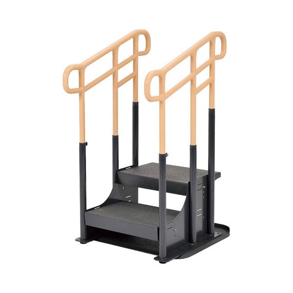 (キャッシュレス還元 5%対象)(代引き不可) モルテン ルーツ アウトドア段差タイプ ステップ台2段 MNTPOKW2 両手すり (手すり 転倒防止 縁側 玄関 屋外用) (時間帯指定不可) 介護用品