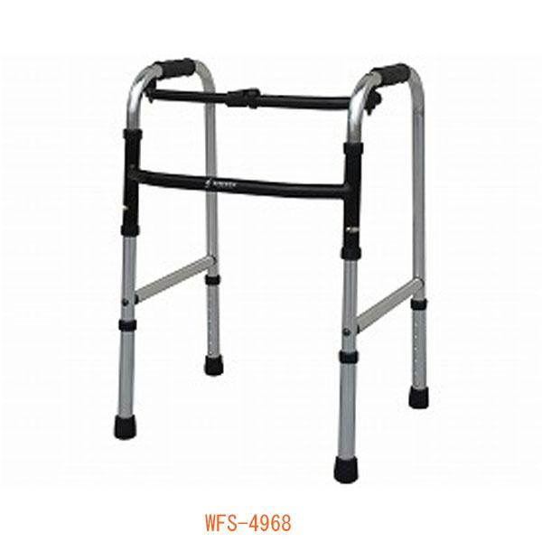 スリムフレームウォーカー固定型 WFS-4968 シンエンス (歩行器 固定 歩行補助 折りたたみ) 介護用品