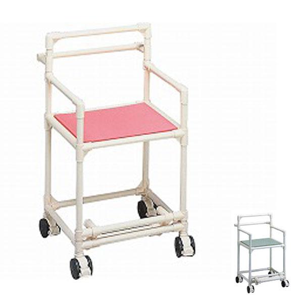 (代引き不可)トマト シャワーキャリー(背もたれ肘付型)TY-805(お風呂用品 シャワーチェアー シャワーキャリー シャワー用車いす 浴用キャリー) 介護用品