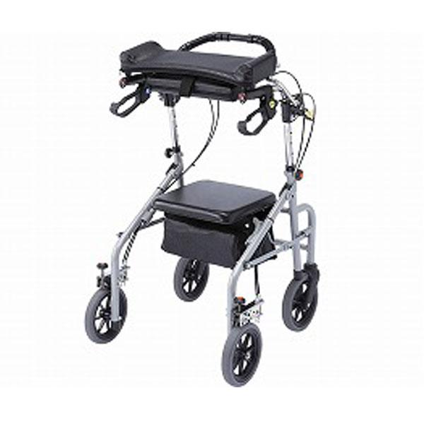 (代引き不可) ラビット 座面ありタイプ (標準) WA-3 シルバー ウェルパートナーズ (歩行器 折りたたみ) 介護用品