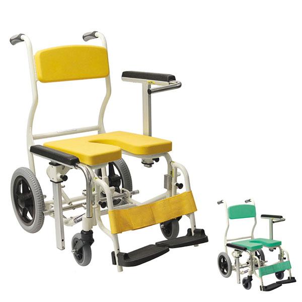 (代引き不可)【時間帯指定不可】シャワー用車いす U型 KS12 カワムラサイクル (お風呂 椅子 浴用椅子 シャワーキャリー 背付き 介護 椅子) 介護用品