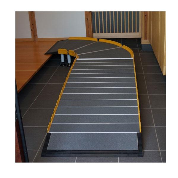 (代引き不可)Lスロープ 1500 643-115 シコク (車椅子 スロープ 段差解消スロープ 屋外用 段差スロープ 介護 スロープ 介護 用 スロープ) 介護用品