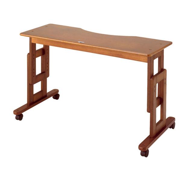 (キャッシュレス還元 5%対象)(代引き不可) サポートテーブルD 高さ調節65~80cm(6段階) キンタロー(介護ベッド ベッド オーバー テーブル キャスター テーブル 木製) 介護用品