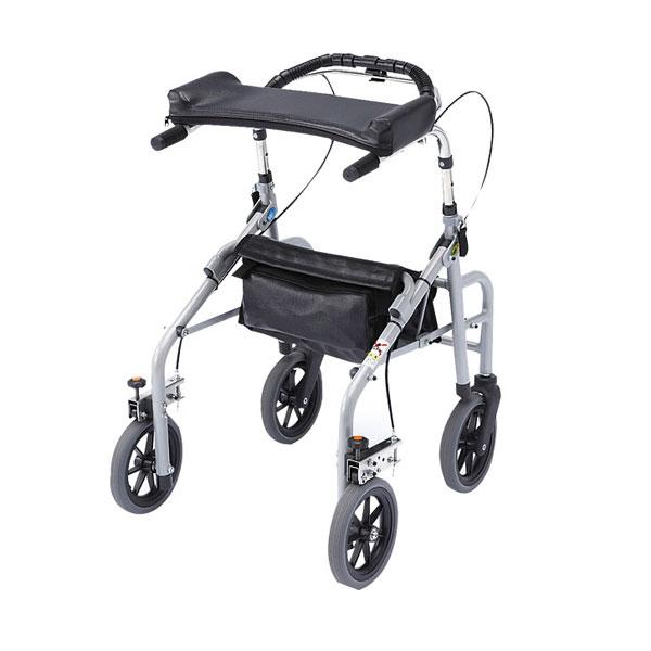 (代引き不可) ラビット 座面なしタイプ (スモール/狭幅・低台) WA-1 シルバー ウェルパートナーズ (歩行器 折りたたみ) 介護用品