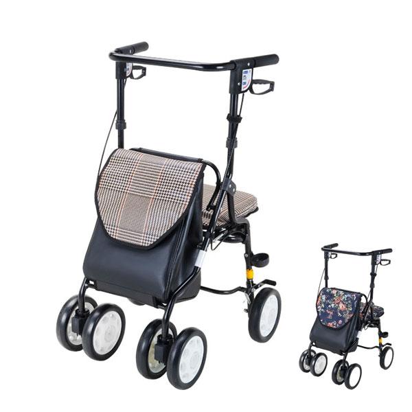 (4/5日限定 当店全品ポイント2倍!!)(代引き不可) 歩行車HOXY (ホクシー) HX-3KC HX-3RF マキライフテック (歩行車 歩行補助 シルバーカー 手押し車 介護) 介護用品