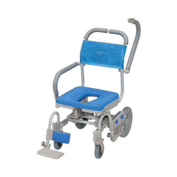 (代引き不可)シャワーラクV SWR140 O型シート ウチヱ (お風呂 椅子 浴用 シャワーキャリー 背付き 介護 椅子) 介護用品