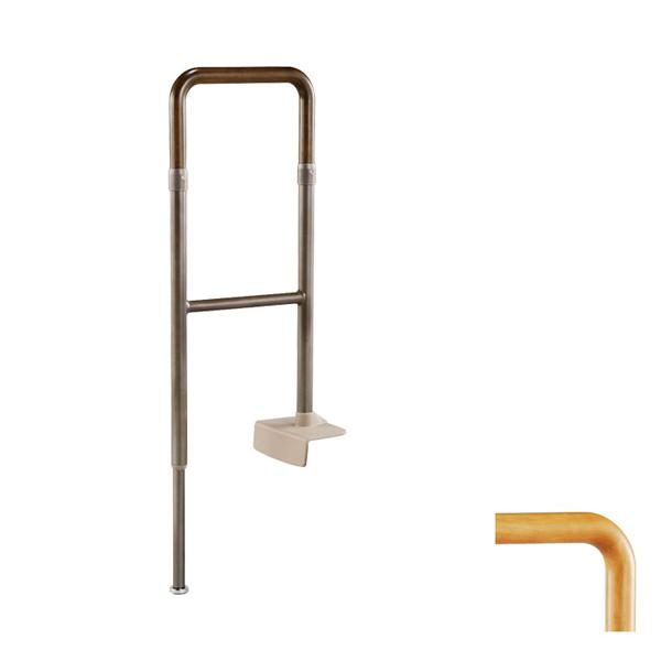 アロン化成 安寿 上がりかまち用手すり KM-300L 固定板:しっかり挟んで安心の固定力(室内用手すり 玄関用手すり)介護用品