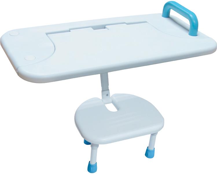 (代引き不可) はね上げ式バスボード (イス有り) BBH-001 白 ユニトレンド 介護用品