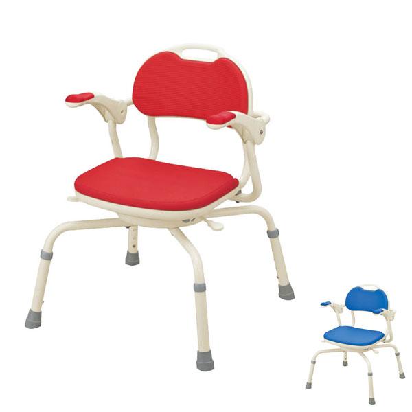"""アロン化成 安寿 ひじ掛け付きシャワーベンチ """"まわるくん"""" 536-190 536-192 (介護用 風呂椅子 介護 浴室 椅子 肘掛け椅子 回転椅子) 介護用品"""