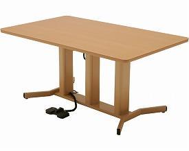 (代引き不可) ダイニングGU テーブルHT 天板幅150cm GUT-HT-15 幅150×奥行90×高さ65~90cm(無段階調整)コイズミファニテック (電動 昇降) 介護用品
